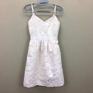 Ted Baker Nude Pink Quancie Sweetheart Lace Dress